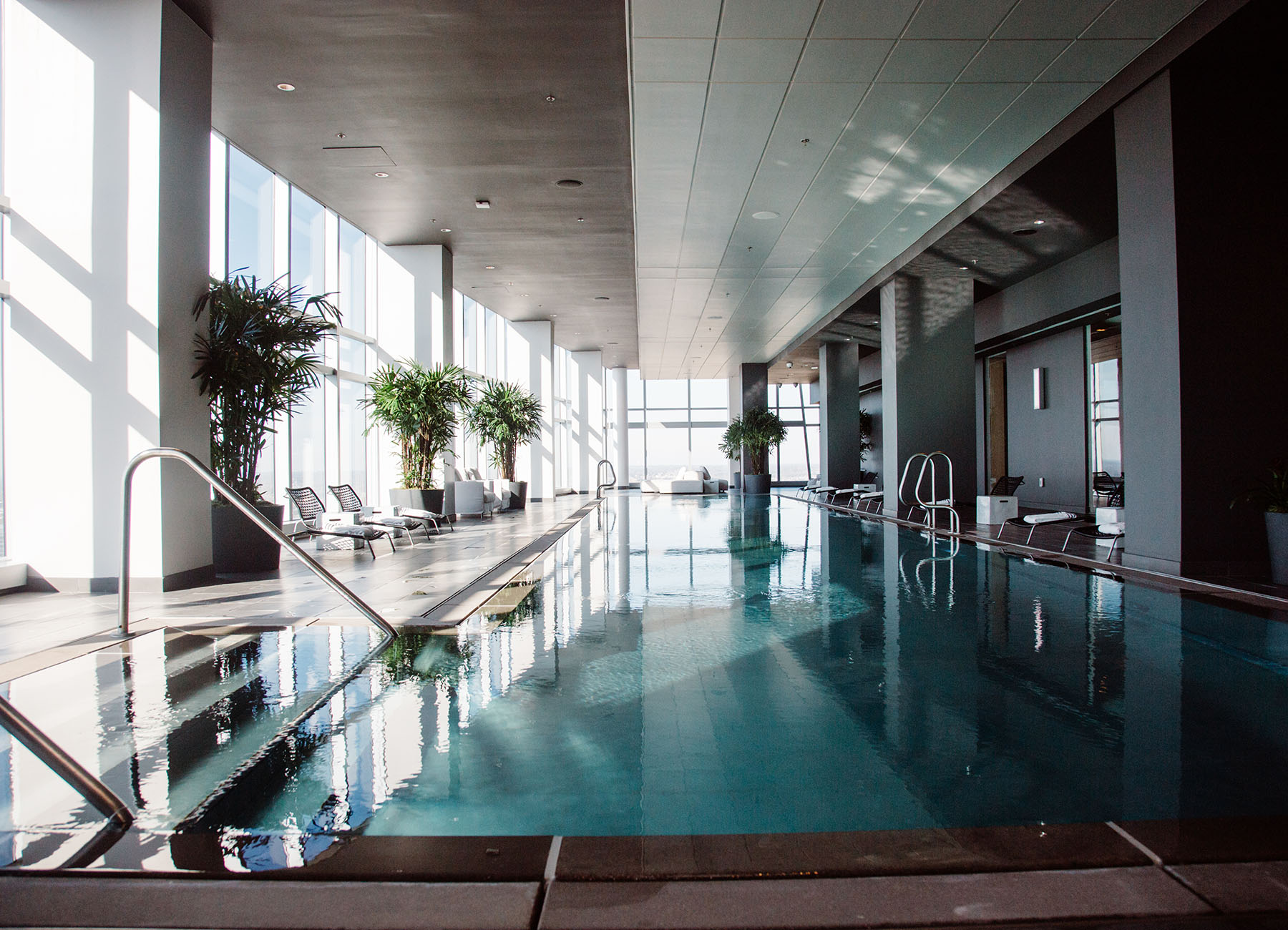 Infinity pool on Level 28 with full windows